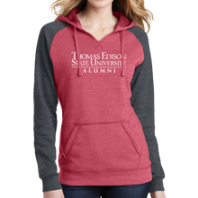 Load image into Gallery viewer, District Women's Lightweight Fleece Raglan Hoodie- Alumni