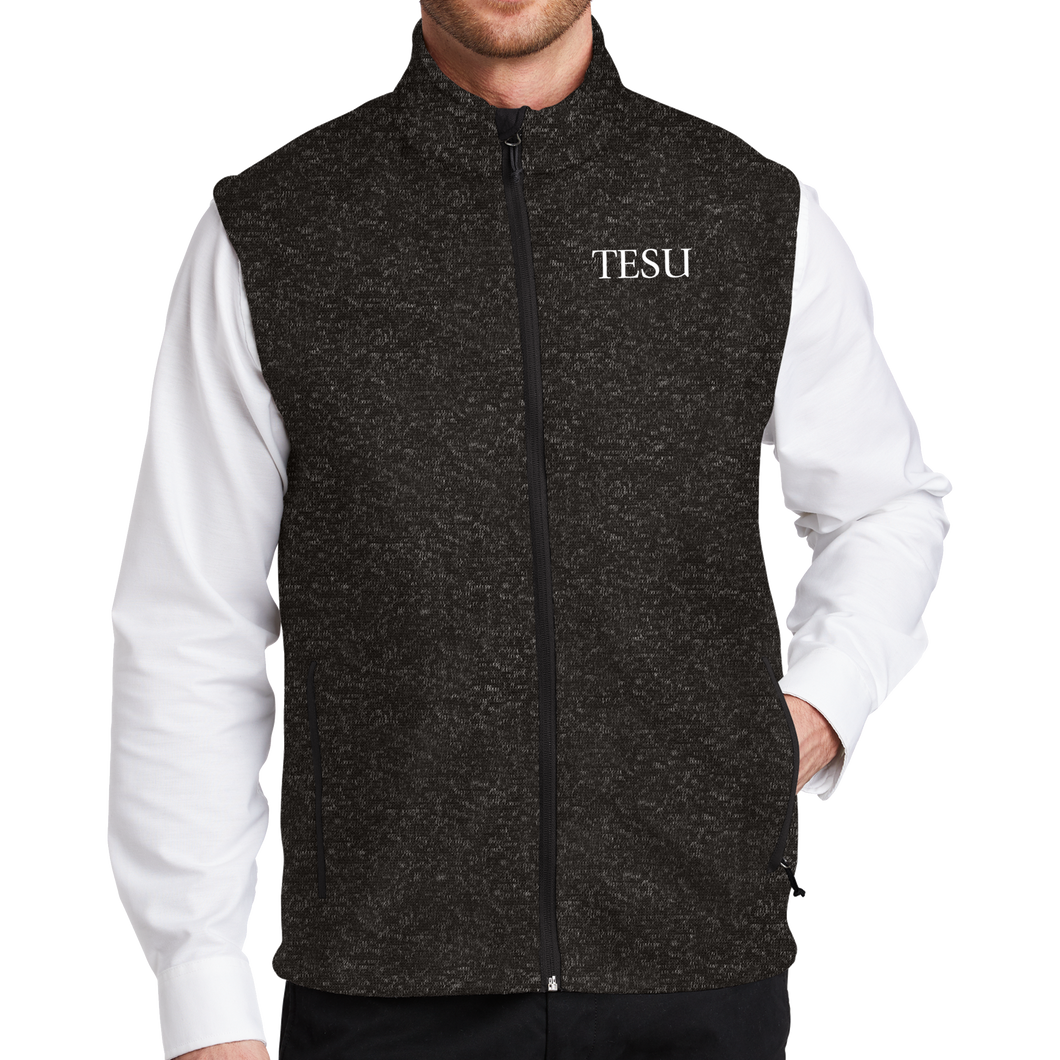 Port Authority Sweater Fleece Vest - TESU Serif