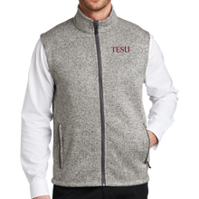 Load image into Gallery viewer, Port Authority Sweater Fleece Vest - TESU Serif