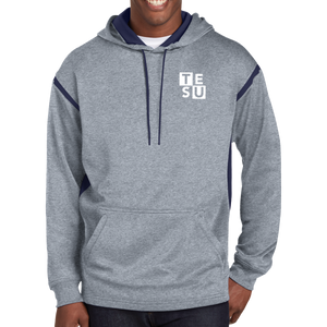 Sport-Tek Tech Fleece Colorblock Hooded Sweatshirt- Block