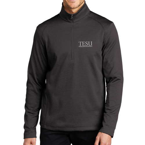 Port Authority Diamond Heather Fleece 1/4-Zip Pullover- Serif