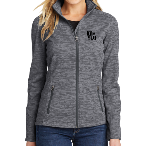 Port Authority Ladies Digi Stripe Fleece Jacket - Block