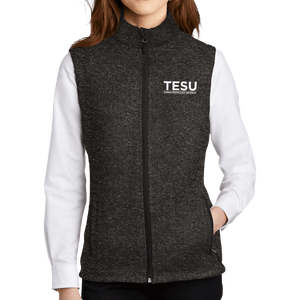 Port Authority Ladies Sweater Fleece Vest- Sans Serif