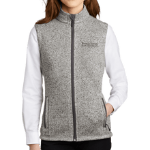 Load image into Gallery viewer, Port Authority Ladies Sweater Fleece Vest - Academic