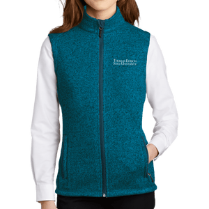Port Authority Ladies Sweater Fleece Vest - Academic