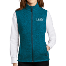 Load image into Gallery viewer, Port Authority Ladies Sweater Fleece Vest- Sans Serif
