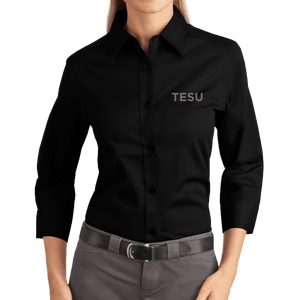 Port Authority Ladies 3/4 Sleeve Easy Care Shirt - TESU Sans