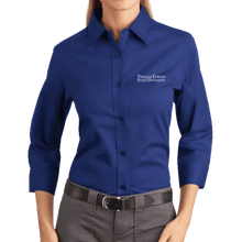 Load image into Gallery viewer, Port Authority Ladies 3/4-Sleeve Easy Care Shirt- Academic