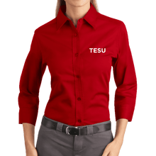 Load image into Gallery viewer, Port Authority Ladies 3/4 Sleeve Easy Care Shirt - TESU Sans