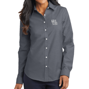 Port Authority Ladies SuperPro Oxford Shirt - Block