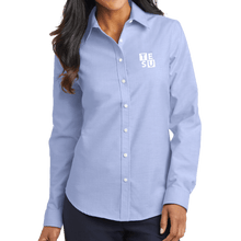 Load image into Gallery viewer, Port Authority Ladies SuperPro Oxford Shirt - Block