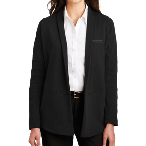 Port Authority Ladies Interlock Cardigan-Academic logo