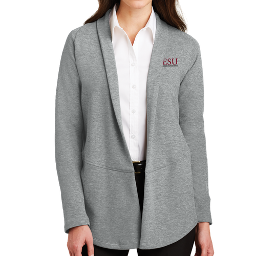 Port Authority Ladies Interlock Cardigan - Serif