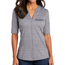 Load image into Gallery viewer, Port Authority Ladies Stretch Heather Open Neck Top- Academic
