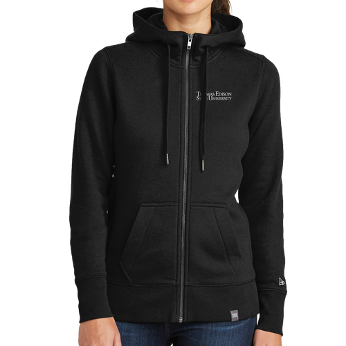 New Era Ladies French Terry Full-Zip Hoodie- Academic