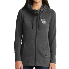 Load image into Gallery viewer, New Era Ladies Tri-Blend Fleece Full-Zip Hoodie - Block