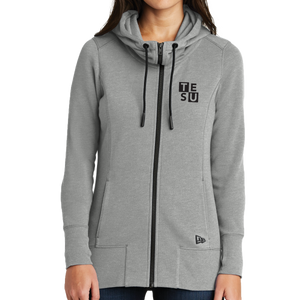 New Era Ladies Tri-Blend Fleece Full-Zip Hoodie - Block