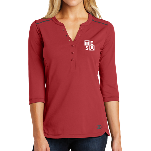 OGIO Ladies Fuse Henley- Block