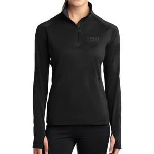 Ladies Sport-Wick Stretch 1/2-Zip Pullover-Serif - Close Out