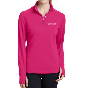 Sport-Tek Ladies Sport-Wick Textured 1/4-Zip Pullover- Academic