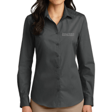 Load image into Gallery viewer, Port Authority Ladies Long Sleeve Carefree Poplin Shirt - Academic