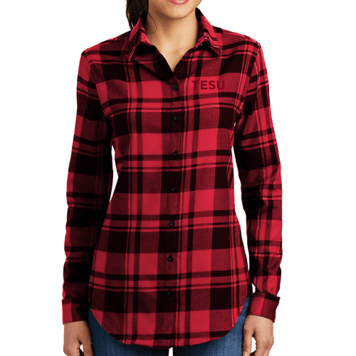 Port Authority Ladies Plaid Flannel Tunic - TESU Sans