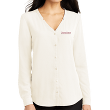 Load image into Gallery viewer, Port Authority Ladies Long Sleeve Button-Front Blouse- Academic