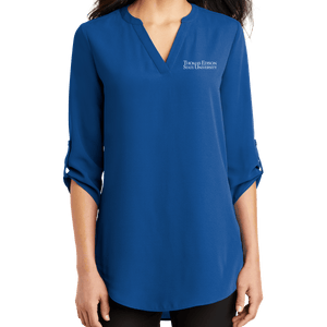 Port Authority Ladies 3/4 Sleeve Tunic Blouse - Academic