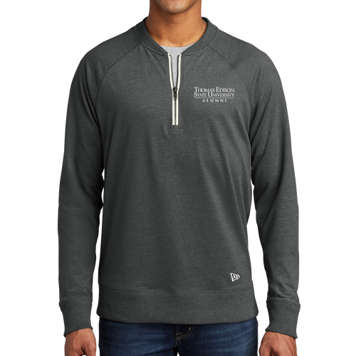New Era Sueded Cotton Blend 1/4-Zip Pullover- Alumni