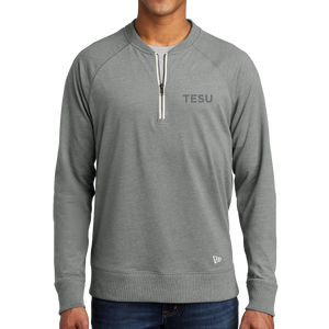 New Era Sueded Cotton Blend 1/4-Zip Pullover - TESU Sans