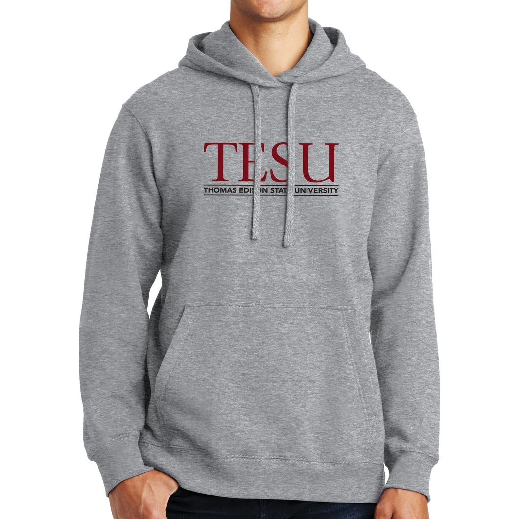 Fan Favorite Fleece Pullover Hooded Sweatshirt- Serif - Close Out