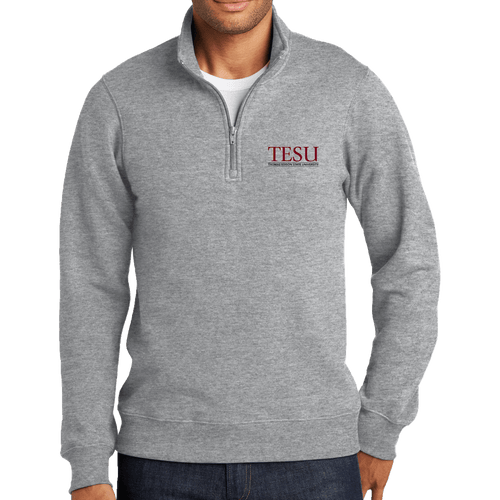 Port & Company Fan Favorite Fleece 1/4-Zip Pullover Sweatshirt - Serif
