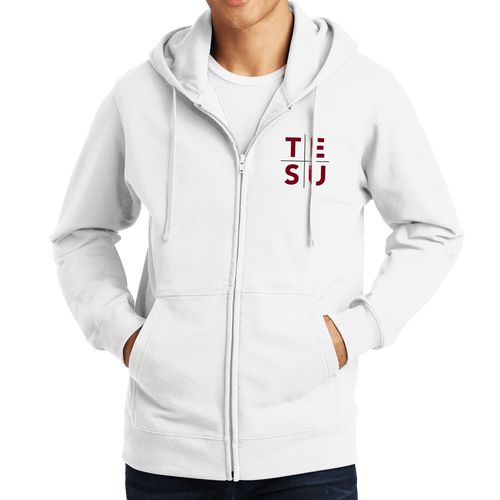 Port & Company Fan Favorite Fleece Full-Zip Hooded Sweatshirt - Grid