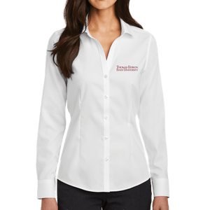 Red House Ladies Pinpoint Oxford Non-Iron Shirt- Academic