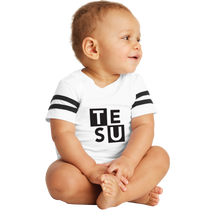 Load image into Gallery viewer, Rabbit Skins Infant Football Fine Jersey Bodysuit - Block