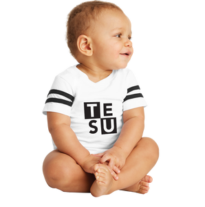 Rabbit Skins Infant Football Fine Jersey Bodysuit - Block