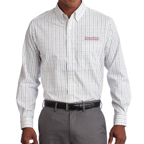 Tattersall Easy Care Shirt- Academic