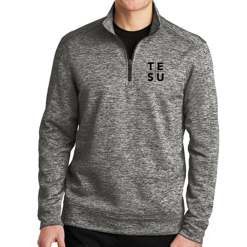 Sport-Tek PosiCharge Electric Heather Fleece 1/4-Zip Pullover- Grid