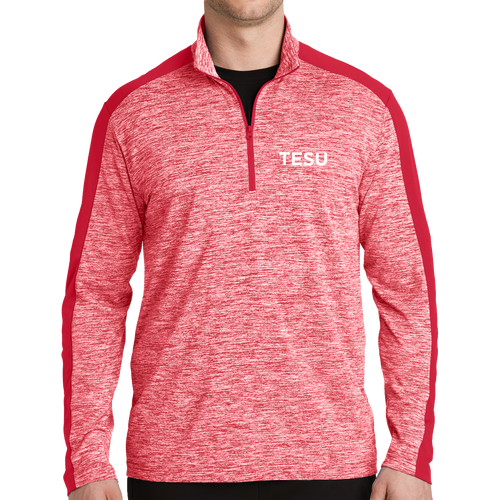 Sport-Tek PosiCharge Electric Heather Colorblock 1/4-Zip Pullover- TESU Sans