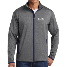 Load image into Gallery viewer, Sport-Tek Sport-Wick Stretch Contrast Full-Zip Jacket- Serif