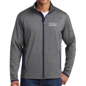 Sport-Tek Sport-Wick Stretch Contrast Full-Zip Jacket- Serif