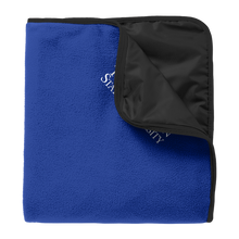 Load image into Gallery viewer, Fleece & Poly Travel Blanket-Academic