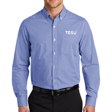 Load image into Gallery viewer, Broadcloth Gingham Easy Care Shirt- TESU Sans