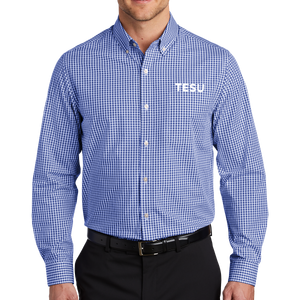 Broadcloth Gingham Easy Care Shirt- TESU Sans