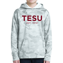 Load image into Gallery viewer, Sport Tek Youth Sport Wick Camo Hex Fleece Hooded Pullover - Distress
