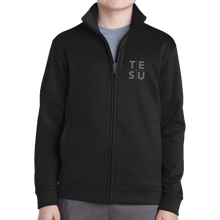 Load image into Gallery viewer, Sport-Tek Youth Sport Wick Fleece Full Zip Jacket - Grid