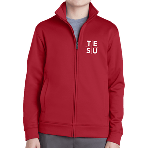 Sport-Tek Youth Sport Wick Fleece Full Zip Jacket - Grid