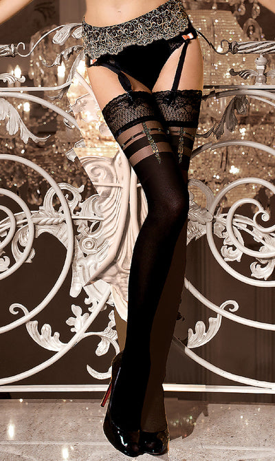 Studio Collants Art.263 Hold Ups Black