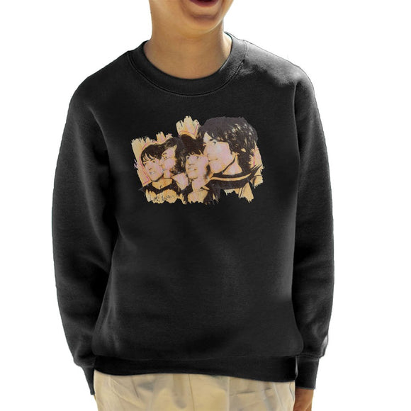 Sidney Maurer Original Portrait Of The Beatles Side Profile Kids Sweatshirt - Kids Boys Sweatshirt