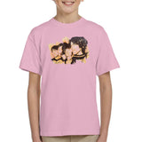 Sidney Maurer Original Portrait Of The Beatles Side Profile Kids T-Shirt - X-Small (3-4 yrs) / Light Pink - Kids Boys T-Shirt